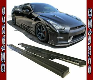 Cfrp Carbon Fiber Drill On Side Spoiler Lip For 08 11 Gtr R35 Coupe 2door Model