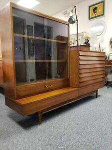 Mid Century 3 Pc Sideboard Hutch By Merton Gershun For American Of Martinsville