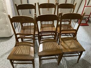 Set Of 6 Larkin Dining Double Pressed Back Chairs And Table Local Pickup Only