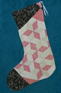 Primitive Antique Vintage Cutter Quilt Christmas Stocking Wow 9
