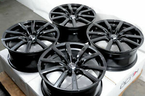 18x8 Black Wheels Fits Accord Nissan Altima Rogue Sentra Maxima G35 G37 Rims