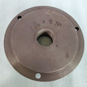6 Chuck Backing Plate 1 1 2 8 Tpi