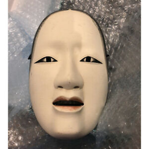 Traditional Crafts Noh Mask Face Wood Carving Woman Face Free Shipping