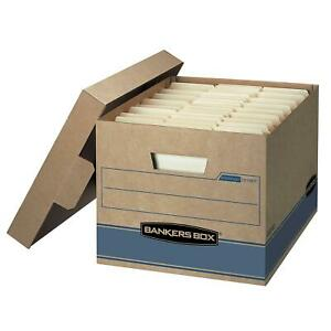 Cardboard Storage Bankers Boxes Heavy Duty 10 For Letter Or Legal File Folders