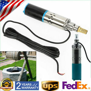 12v Submersible Pump Deep Well Water Dc Pump Stainless Steel 3000l h Us