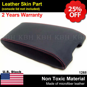 Fits 05 07 Dodge Charger Chrysler 300 Vinyl Console Lid Armrest Cover Red Stitch