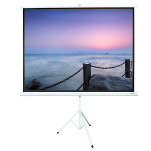 100 4 3 Hd Portable Pull Up Projection Screen With Stand Tripod Home Theater