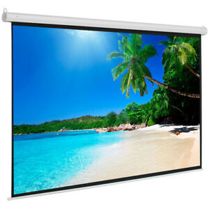 Leadzm 100 Projection Screen 4 3 Projector Manual Pull up Screen Matte White