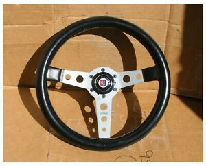 Vintage Momo Prototipo With Alpina Horn Button Solid Cast Hub For Bmw 2002 1602