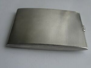 Very Good Heavy English Sterling Silver Cigarette Card Case Hallmarked C1922