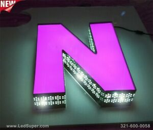 New Led Channel Letters Sign Front Lit And Side Lit 18 Custom Made