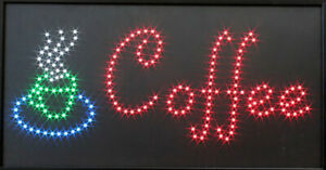 Coffee Cup Led Sign Super Bright High Quality Led Coffee Shop Sign Large