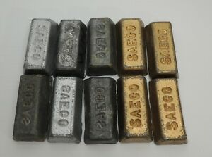 Lot of 10 SAECO Lead Bars Ingots for reloading fishing wheel weights