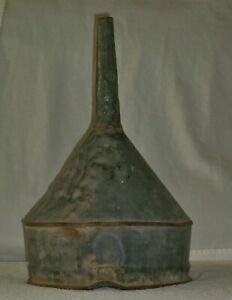 Vintage Old Funnel Farm Barn Tractor Galvanized Metal Appx 17 Inches Tall
