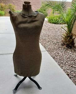 Vtg Acme Miracle Stretch Dress Form Mannequin Type A W base Decor
