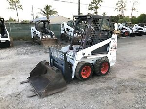 2008 Bobcat 463 s70 Skid Steer Open Cab Bucket And Forks 514 Hours