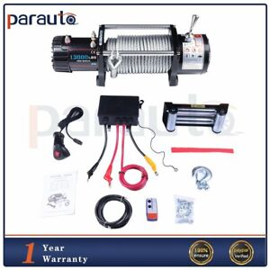 13000lb Electric Recovery Winch 3 8 86 Steel Cable Offroad For Jeep Truck 12v