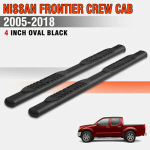 For 05 19 Nissan Frontier Crew Cab 4 Running Board Nerf Bar Side Step Oval Blk