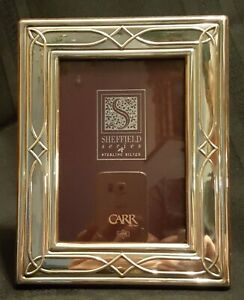 New Sterling Silver Carr Sheffield Series Photo Picture Frame 5 X 3 1 2