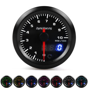 2 52mm Digital Pointer 7 Color Led Car 0 10 Rpm Tacho Tachometer Gauge Meter