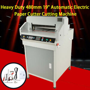 Adjustable Electric 480mm 19 Automatic Paper Cutter Cutting Machine Us Stock