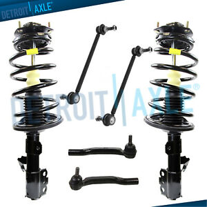For 2005 2010 Toyota Sienna Fwd 7 Passenger Front Struts Sway Bars Outer Tie Rod