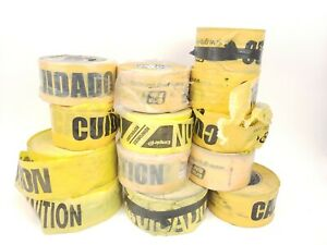 caution Yellow Barrier Tape Non detectable 13 Partial Rolls 3