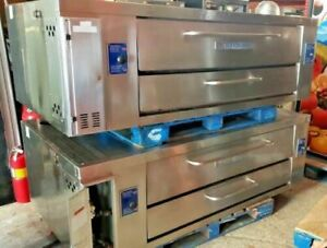 Bakers Pride Y600 Double Stack Pizza Deck Oven 60 Nat Gas Free Shipping