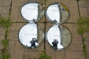 4 Vintage Buick Hubcaps Raised Letter Dog Dish 11 Inch