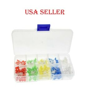 Led Kit Mixed Color Red Green Yellow Blue White Light Emitting Diode Assortment