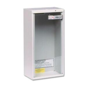 Fire Extinguisher Cabinet 10 Lbs Surface Mount Wall Glass Safety Steel Holder