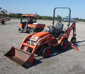 2013 Kubota Bx25 4x4 Hydro Compact Tractor Loader Backhoe 400hrs Coming Soon