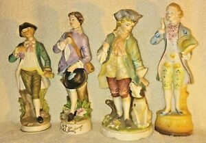 Lot Of 4 Vintage Bisque French Colonial Victorian Norleans Figurines