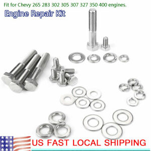 Engine Repair Tool Hex Bolt Kit For Chevy Engine 265 283 302 305 307 327 350 400