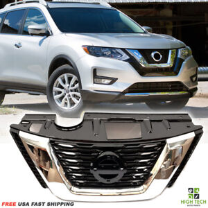 Front Grill Oe Style Black Chrome Grille Fits For 2017 2018 Nissan Rogue