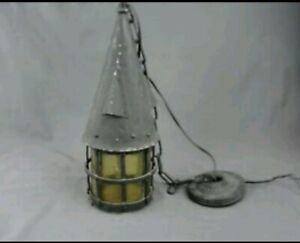 Vtg Arts Craft Gothic Porch Light Fixture Lantern Lamp Sconce Antique Mission