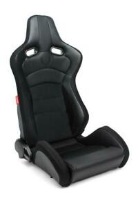 Cipher Auto Vp 8 Euro Racing Seats Pair Black Premium Fabric W carbon black Trim