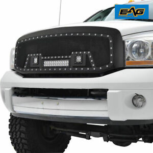 07 09 Dodge Ram 2500 3500 Led Grille Front Upper Replacement Rivet Ss Mesh