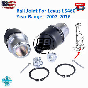 2x Front Lower Knuckle Spindle Ball Joint For Lexus Ls460 2007 2016 2wd Rwd Only