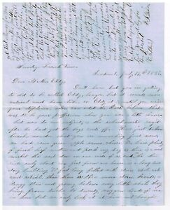 2 Stampless Letters Re Life On The Prairie In Sandoval Illinois 1857