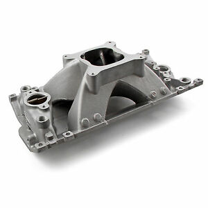 Sbc Small Block Chevy Vortec Aluminum Intake 350 Shoot Out Series High Rise 383
