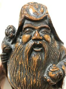 Antique Chinese Bamboo Carving Figure Of Luohan