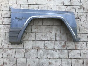 1984 1996 Jeep Cherokee Xj Comanche Mj Factory Blue Passenger Side Fender