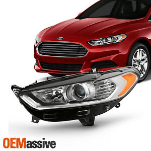 For 2013 2016 Ford Fusion 4door Halogen Style Projector Headlight Left Driver