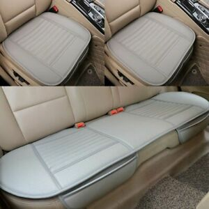 Universal Car Seat Cover Breathable Pu Leather Pad Mat Auto Chair Cushion Gray