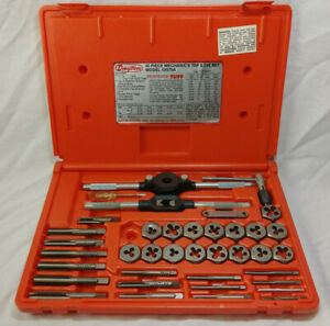 Dayton 40 Piece Mechanics Tap And Die Set 4x575a Metal Working Hand Tools