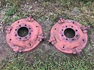 Ih International 300 330 350 Utility Spinout Wheel Centers Pair
