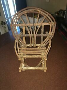 Rustic Wooden Chair Tabletop Primitive Decor Handmade Doll Chair