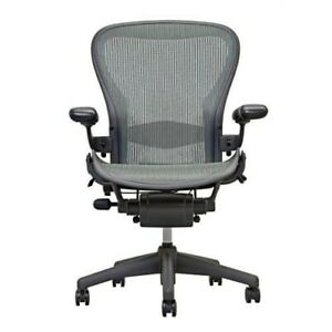 Herman Miller Aeron Chair Size B Fully Loaded Gently Used read Description