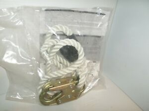 new In Bag Msa Snl3248406ls Safety Positioning Lanyard 5 8 Nylon Rope 6 Ft